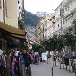 View of the Aminta perched high above Sorrento town just before turning into Via Antonino Sersal