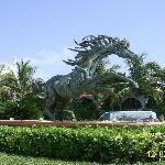Main entrance sculpture