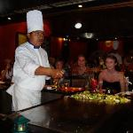 Chef at Japanese restaurant at the Iberostar