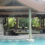 The swim-up bar is great