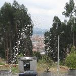 View of Zipaquira from the mine's entrace plaza.