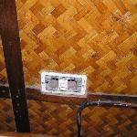 A broken power outlet
