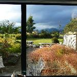View of mountains from the living room