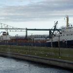 Ore carrier Algocape, Sault Ste Marie Locks-Oct 2009