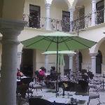 Oaxaca Mex Hotel Francia Patio comedor