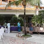 Craft stalls in Mares lobby terrace area