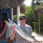 A 33Lb Barracuda caught of a catamaran hired from the beach - 40cuc each - bargain