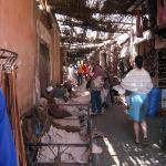 Leather Souk. Marrakech Medina.