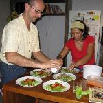 Chris & Luisa preparing a delicious meal