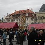 Stalls at the Easter market