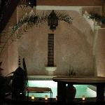 patio la nuit
