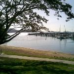 "The view from ""Waterline on Shingley"" restaurant at Airlie Beach"