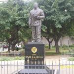 A statue of the guy who founded Waikiki