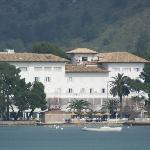 Hotel seen from Marina/Sea