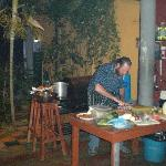 Owner/chef at work