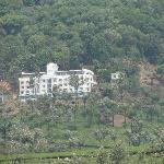 The Misty Mountain Resort from the valley