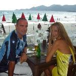 Dinner at the hotel restaurant on the beach