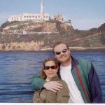 US AT ALCATRAZ  ISLAND IN  SAN FRANCISCO !!