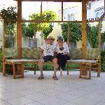Kim and Barry in Sierra garden.