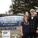 Moss Landing is near Monterey California. The captain is  a friend to all the wildlife.The seals