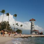 Playa del hotel y bar de playa