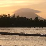 Manado tua in the distance