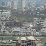 vista de la zona de hospitales desde el monumento a la bandera