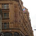 Harrods where we went shopping cause were posh like that