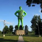 The Jolly Green Giant! Found in Blue Earth, Minnesota.