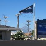 View of Mount Taranaki from motel