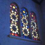 Stained glass windows at the Unitarian Society