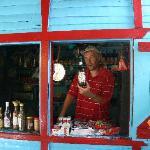 Kurt at the village store