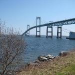 Pell-Newport Bridge from our back door