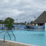 La seule piscine du resort