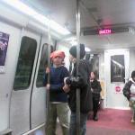 Jake at the subway in Washington DC