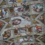 Stole a shot of the Sistine Chapel ceiling.