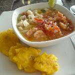 Ceviche with pescado and camarones...yummy!