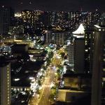 Our view of Waikiki at night