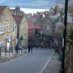 ROBIN HOOD'S BAY VIEW FROM THE TOP OF THE HILL