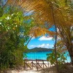 The entrance to Trunk Bay, St. John U.S. Virgin Islands