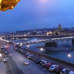 Vue sur l'Arno depuis la chambre