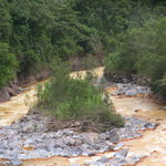 Its not really mud but a mineral that makes the river lookmuddy