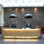 Wonderful staff (peter on the right), beautiful mosaics on reception