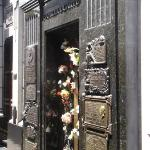 The gravesite of the famous Eva  Peron and her family Duarte