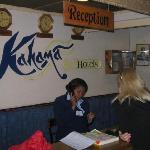 reception in Kahama hotel in Nairobi