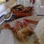 The crabs in pepper sauce.