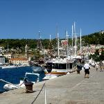 Hvar Town harborside - view of Bocin Apt on hill
