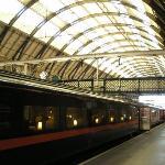 King's Cross station, London, where Harry awaits the  Hogwarts Express...
