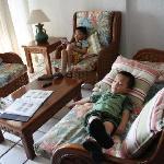 Kids enjoying the living room