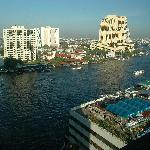 view from our room of the Chao Phraya River